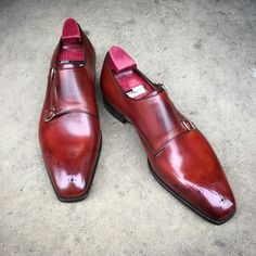 """The """"Grosvenor"""" on the TG 73 last. With a light coronation red patina for a little more character. #gazianogirling #gazianoandgirling #shoeporn #madetoorder #patina #GGGrosvenor"""
