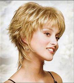 Résultat d'images pour Short Shag Hairstyles for Women Over 50 Back Veiws