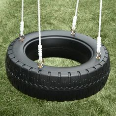 New diy outdoor fort tire swings Ideas Backyard Playground, Backyard For Kids, Backyard Projects, Outdoor Projects, Playground Flooring, Outdoor Forts, Outdoor Play, Tire Art, Swing And Slide