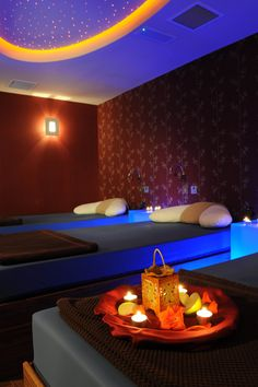 Dublin - Royal Marine Hotel & Spa's sansanaSPA water room Tanning Booth, Ireland Hotels, Water Bed, Relaxation Room, Royal Marines, Treatment Rooms, Steam Room, Luxury Spa, Lounge Areas
