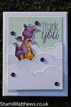 Homemade Card - MFT - My Favorite Things - Magical Dragons #cardmagic