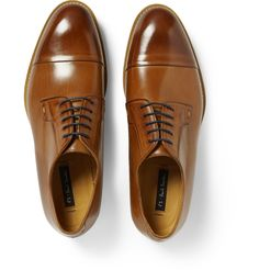 Paul Smith Shoes & Accessories - Ernest Burnished Leather Derby Shoes | MR PORTER