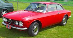1969 Alfa Romeo GT Veloce. Red. Front-quarter angle. I love these classic Alfa Romeos.