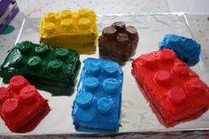 Lego Brick Birthday Cakes - easy and cute!