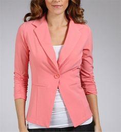 Coral 3/4 Sleeve Blazer