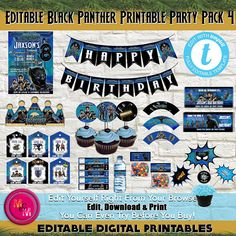 ★EDIT RIGHT IN YOUR BROWSER WITH TEMPLETT ★PLEASE READ FULL DESCRIPTION ................................................................... Edit your own Black Panther Party Package. These pages are easy to edit using our design application right in your browser. Just edit any of