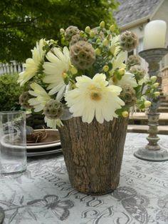Coole Deko Ideen   21 Selbst Gemachte Baumstumpf Vasen   Pinterest    Baumstumpf, Deko Ideen Und Vasen