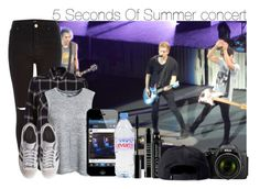 """""""5 Seconds Of Summer concert"""" by swaggxdirection ❤ liked on Polyvore featuring River Island, rag & bone, adidas Originals, Lord & Berry, Evian, CARGO, Nikon and Stussy"""