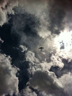 ♥ B-17 Flying Fortress in the clouds