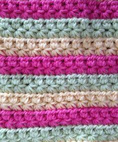 Crochet-Star-Stitch-CM Tığ işi yıldız örneği...