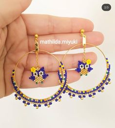 Seed Bead Jewelry, Bead Jewellery, Beaded Jewelry, Handmade Jewelry, Beaded Bracelets, Beaded Earrings Patterns, Beading Patterns, Bead Embroidered Bracelet, Beaded Animals