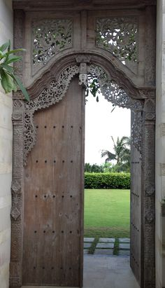 Beautiful Balinese door, inviting you to explore beyond