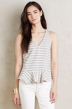 Bellevue Peplum Tank - anthropologie.com