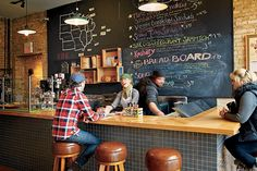 idea for youth room--love the feel of this space...looks like a hipster coffee shop ;)