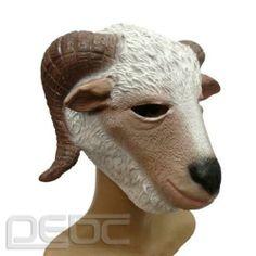 Hot Creepy Latex Rubber Halloween Funny Goat Head Mask   eBay