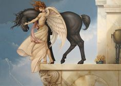 Dark Unicorn, by Michael Parkes, Array featured at Marcus Ashley Gallery.