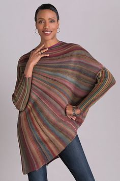 Color Wheel Sweater by Mieko Mintz. With its extraordinary circular shape and . : Color Wheel Sweater by Mieko Mintz. With its extraordinary circular shape and … – knitting pattern Knitting Designs, Knitting Patterns, Crochet Patterns, Mode Crochet, Trench Coats, Wool Sweaters, Pulls, Knitwear, Ideias Fashion