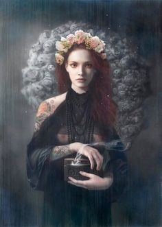Pandora by Tom Bagshaw.  Digitally-manipulated photography