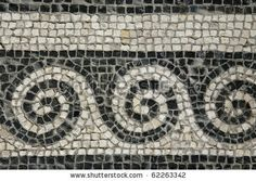 Roman Mosaic Patterns | Roman Mosaic - Roman House - Spoleto Stock Photo 62263342 ...