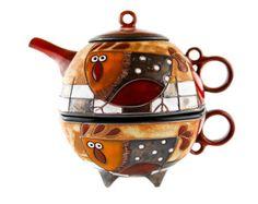 Ceramic tea for one set Ceramic teapot glass teapot por ASTpottery
