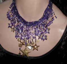 Necklace Choker Stunning Celestial Theme OOAK by ThePurpleHouse, $95.00