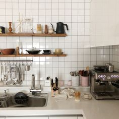 Find images and videos about room, interior and minimal on We Heart It - the app to get lost in what you love. Kitchen Interior, Interior Design Living Room, Kitchen Decor, Kitchen Design, Korean Apartment, Korean Kitchen, Aesthetic Rooms, My New Room, House Rooms