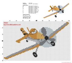 Dusty Crophopper Disney Planes character free cross stitch pattern - 2304x2024 - 1554555