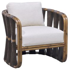 Palecek Strings Attached Dark Lounge Chair @Zinc_Door