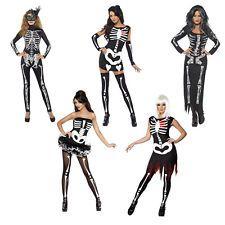 Sexy Skeletons FEVER Tutu Brillant En Foncé Halloween Femmes Déguisement Taille