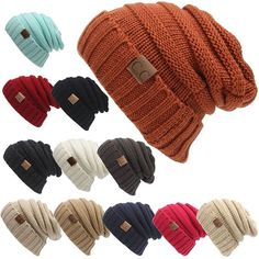 High-quality Women Men Warm Soft Knitting Bonnet Hats Winter Outdoor Snow Leisure Stripes Beanies Casual Cap - NewChic Mobile