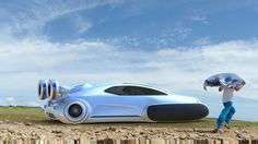 Futuristic vehicle Volkswagen Aqua hovercraft concept designed by Yuhan Zhang from China is powered by Hydrogen and propelled by impellers. This Volkswagen concept was designed to cope with the… Ferdinand Porsche, Design Transport, Big Yachts, Automobile, Future Transportation, Pretty Cars, Flying Car, Futuristic Cars, Future Car