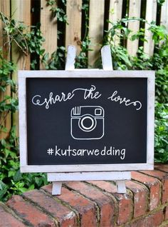 18 Rustic Wedding Hashtag Ideas to Share Photos on Your Wedding Wedding Hashtag Sign, Rustic Wedding Signs, Wedding Signage, Wedding Chalkboards, Wedding Chalk Board Signs, Rustic Wedding Photos, Wedding Reception, Pam Pam, Future Mrs