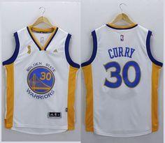 89f2265204e Warriors  30 Stephen Curry White New Champions Stitched NBA Jersey Nhl  Jerseys