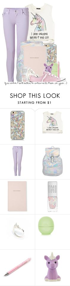 """""""Unicorns"""" by jubileeunicorn ❤ liked on Polyvore featuring Forever 21, True Religion, Kate Spade, LeiVanKash, Topshop and Converse"""