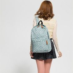 Sweet Little Flowers Cotton Cloth Backpack