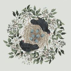 Blackbirds by Charlotte Day