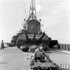 heavy cruiser USS Portland at sea 1942