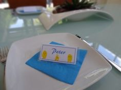 Thumb print chick place cards