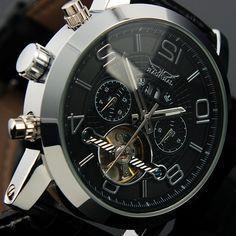 26.54$  Buy here - https://alitems.com/g/1e8d114494b01f4c715516525dc3e8/?i=5&ulp=https%3A%2F%2Fwww.aliexpress.com%2Fitem%2FTrust-2015-New-Watches-Automatic-Watch-Mechanism-Luminous-Hands-Day-Square-Watch-Wristwatch-Gift-Box-Free%2F32585225576.html - JARAGAR Tourbillon Watches Leather Strap Auto Mechanical Watch Luminous Hands Date Day Display Male Wristwatch Horloge Mannen