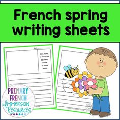 Get your kids writing in French with these writing templates! Each sheet has 5 words to use as a guide/prompt when writing. Great for French Immersion or Core French. Learning French For Kids, Ways Of Learning, Teaching French, Learning Games, Spanish Teaching Resources, School Resources, French Resources, Kids Writing, Teaching Writing