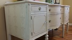 One of my favorite pieces to date!!A personal favorite from my Etsy shop https://www.etsy.com/listing/197352467/sold-vintage-paintedrefinished-sideboard