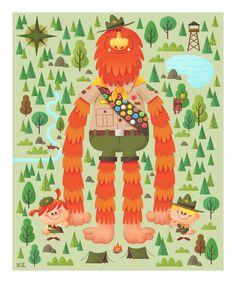 The Art of Matt Kaufenberg: Sasquatch Troop Print Now Available