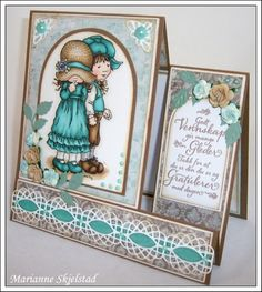 Sarah Kay stamped card...delightful!!!
