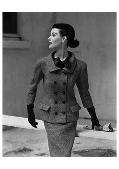 1952-53 - Balenciaga suit in Vogue Sept 1, 1952