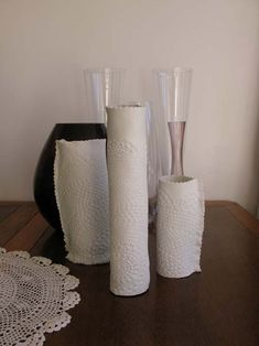 Just one ingredient and three tools are needed: a 1kg packet of air-drying clay, a doily, a fluted pastry cutter and a rolling pin. The doily leaves a gorgeous print on the clay, although you could use anything that leaves an imprint. http://www.sweetlivingmagazine.co.nz/make-a-clay-vase/