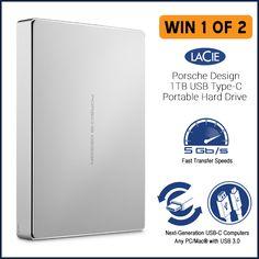 Help me win the LaCie Porsche Design 1TB USB 3.1 Type-C Portable Hard Drive @MwaveAu https://wn.nr/3tVYpm