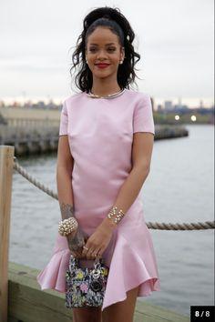 Rihanna in pink dress (2015)