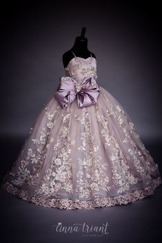 Serendipity Gown by Anna Triant Couture - Kids gown - Little Girl Gowns, Gowns For Girls, Frocks For Girls, Little Girl Dresses, Flower Girl Dresses, Baby Frocks Designs, Kids Frocks Design, Kids Gown Design, Kids Dress Wear