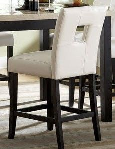 Archstone Collection Counter Height Chair in White Bi-cast Vinyl by Homelegance (Set of Counter Height Bar Stools, 24 Bar Stools, Home Bar Furniture, Buffets Furniture, Office Furniture, High Top Tables, Stools With Backs, Chair Backs, Pub Table Sets