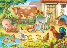 This pin was discovered by ramee arts. Animal Tumblr, Animal Quotes, Animal Pictures, Cute Pictures, Farm Animals Preschool, Farm Cartoon, Baby Animals, Cute Animals, Animal Cartoon Video